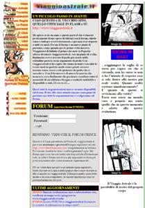vecchio-sito-di-viaggio-astrale-in-html - il nuovo sito di viaggio astrale by viaggioastrale.it