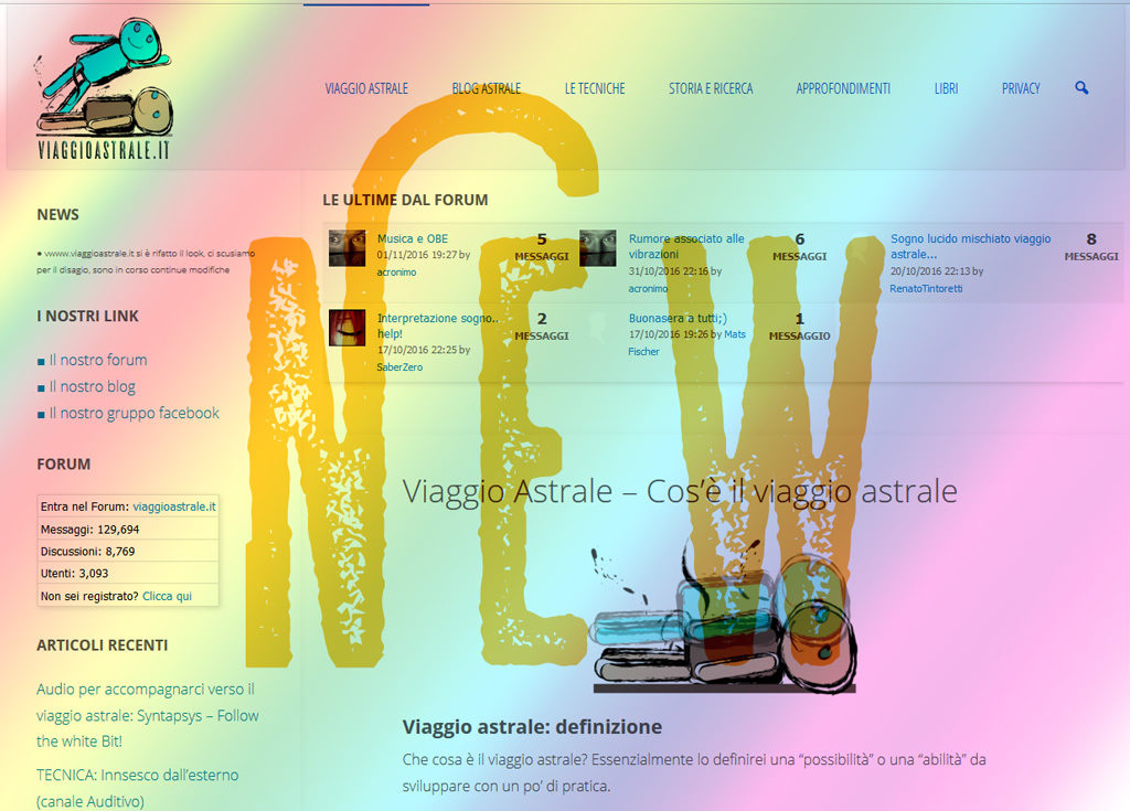 il nuovo sito di viaggio astrale 2016 wordpress viaggioastrale.it